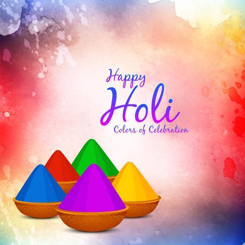 Abstracte gelukkige Holi-festival groet achtergrond vector
