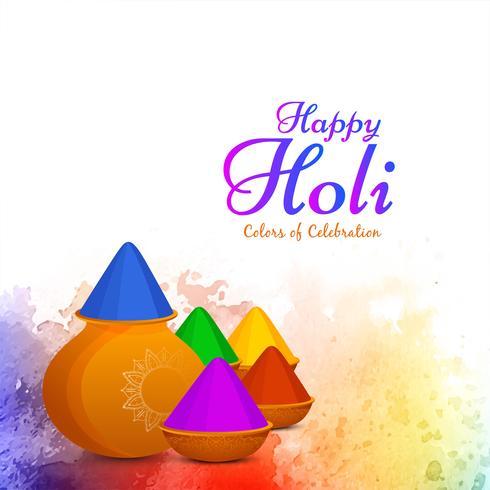 Mooi Gelukkig Holi-vieringsontwerp als achtergrond vector