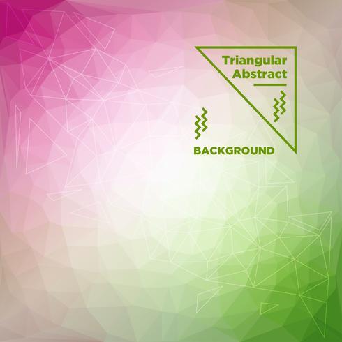 Driehoekige veelhoekige achtergrond vector