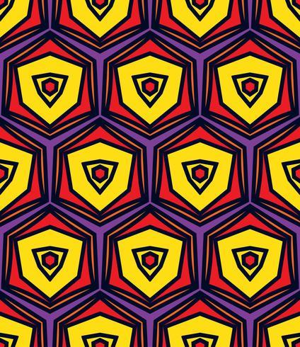 Naadloos uitstekend abstract patroon met driehoeken in de stijl van de jaren 80. vector