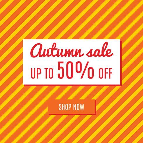 Oranje herfst speciale verkoop vector
