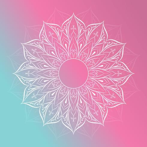 Bloem Mandala Vintage decoratieve elementen vector