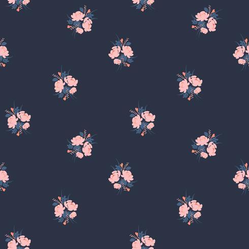 Bloemen abstract naadloos patroon. Vectorontwerp voor verschillende surfases. vector