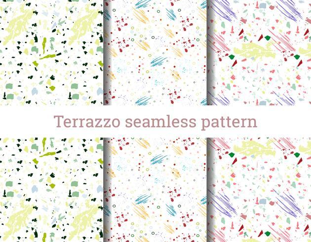Terrazzo naadloos patroon vector