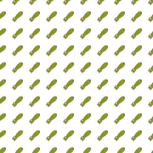 Naadloos patroon van cactussen en succulents in potten. vector