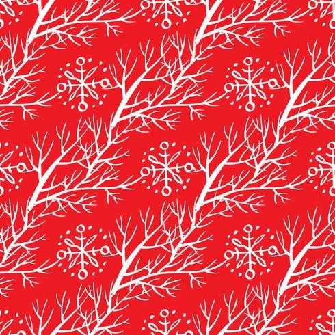 Floral Kerst achtergrond. vector