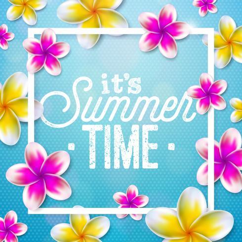 """""""It's Summer Time"""" illustratie vector"""