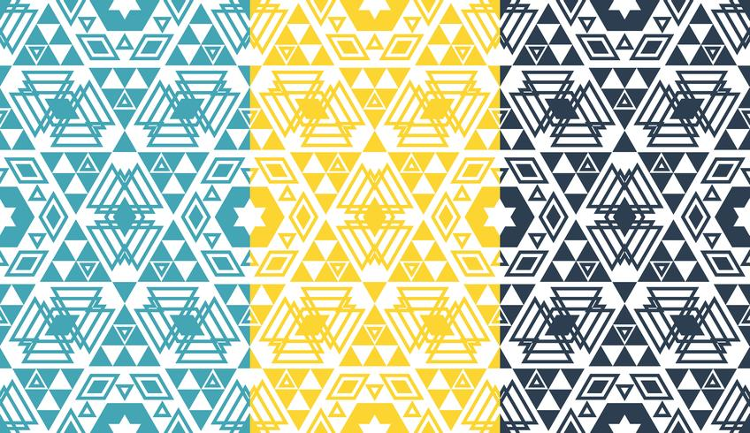 Retro geometrische zeshoek naadloze patroon vector