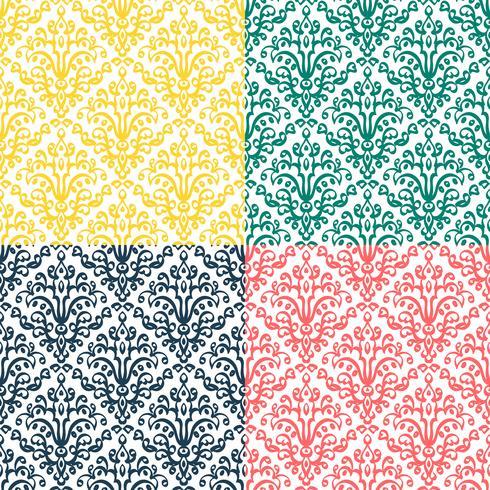 Victoriaans ornament, naadloos patroon vector