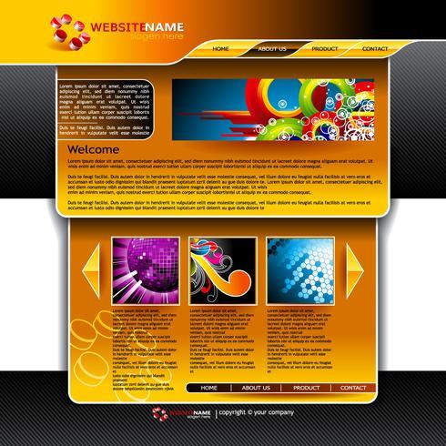 Helder vector website ontwerpsjabloon.