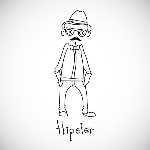 Hipster karakter ontwerp. vector