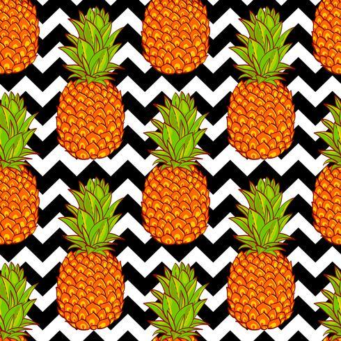 Tropische ananassen achtergrond vector