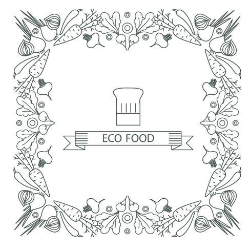 Concept van gezond voedsel. Frame, rand vector