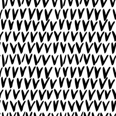 Naadloos stijlvol hand getrokken patroon. vector