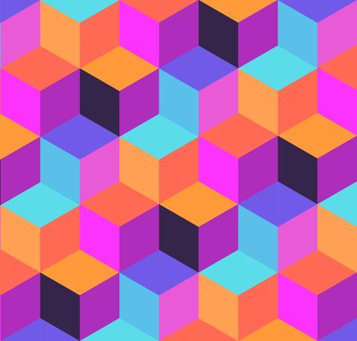 Geometrisch patroon van kubussen en zuigtabletten. vector