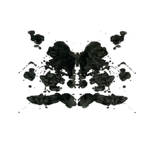 Rorschach inkblot test willekeurige abstracte achtergrond vector