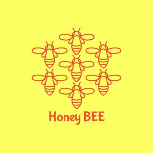 Badge Bee voor bedrijfsidentiteit vector