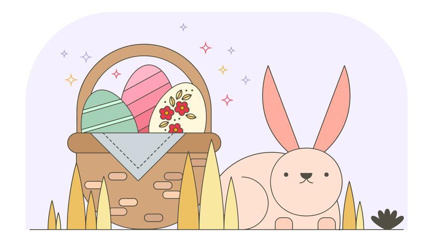 Bunny Pasen Wallpaper Vector