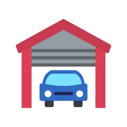 garage vector pictogram