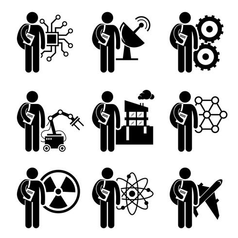 Student Degree in Engineering - Electrical, Mechanical, Telecommunication, Robotic, Civil, Nanotechnology, Nuclear, Chemical, Aerospace vector