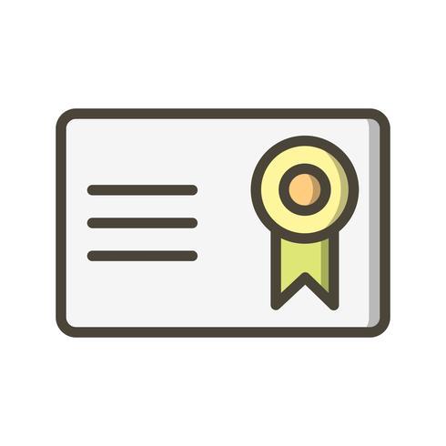 Vector certificaat Vector pictogram