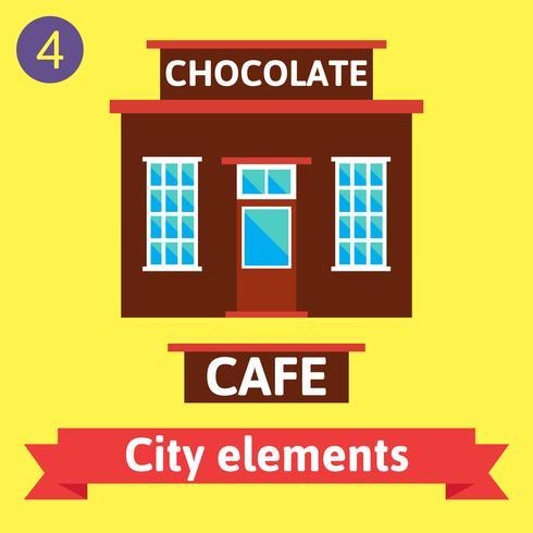Cafe gebouw, Bistro vector