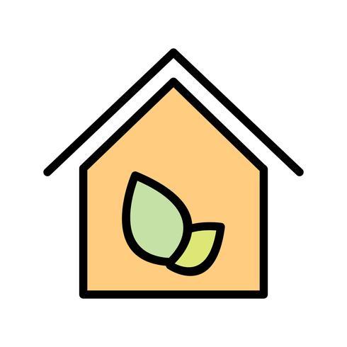 Eco huis vector pictogram