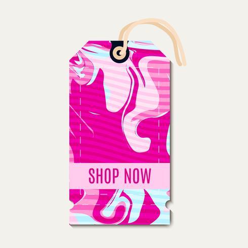 Roze heldere tags met shabbi chick vector