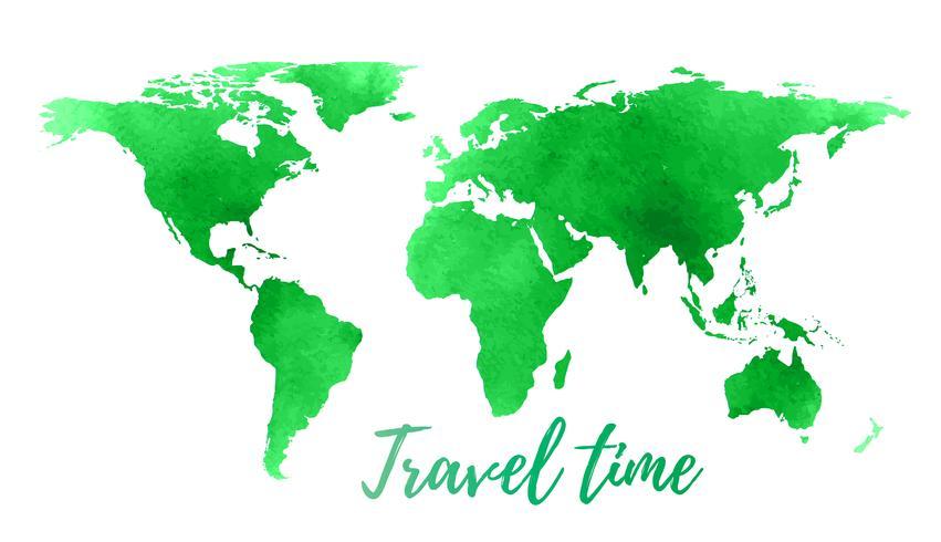 Wereldkaart op witte achtergrond. vector