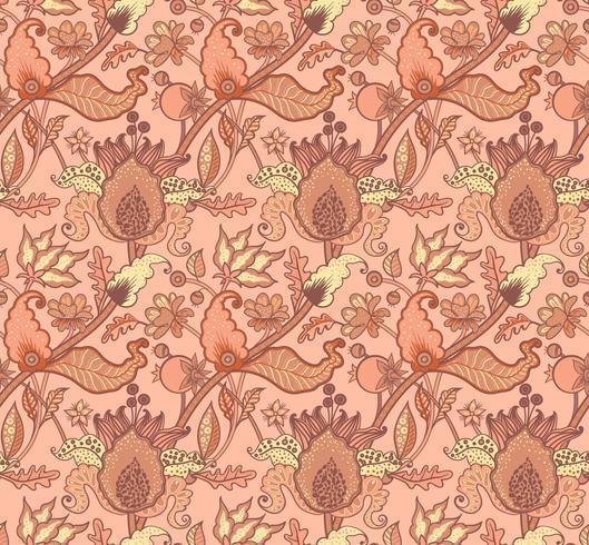 Indian National paisley ornament voor katoen, linnen stoffen. vector