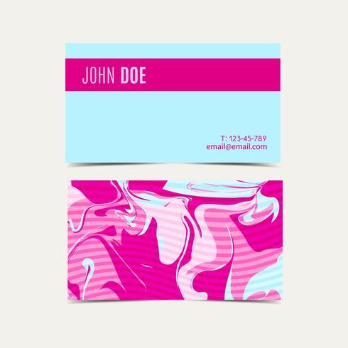 Roze visitekaartjes met een shabby chic vector