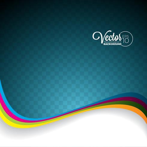 Abstract vectorgolfontwerp op transparante achtergrond. vector