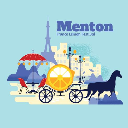 De citrus parade in Menton, Frankrijk vector