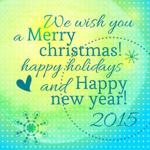 Belettering met het nieuwe jaar en vrolijke kerst vector