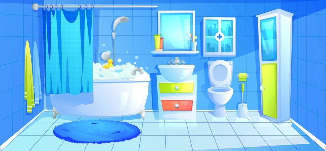 Illustratie van de binnenkant van de badkamer vector