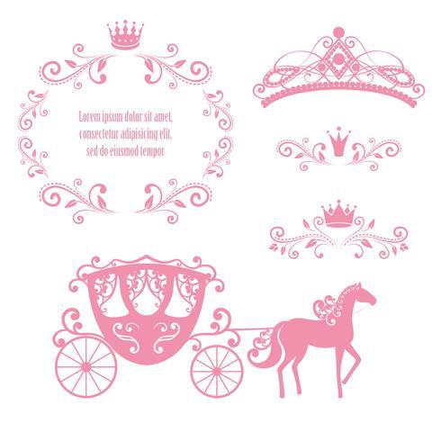vintage royalty frame met kroon vector