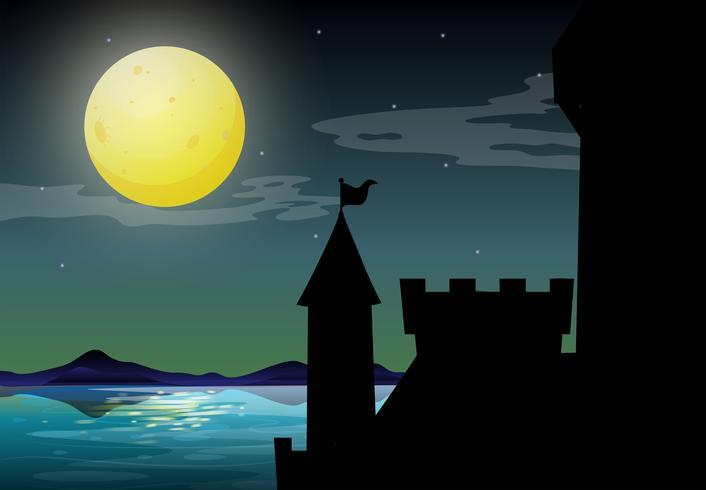 Silhouet kasteel vector