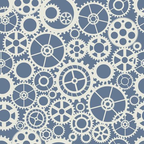 Naadloze wiel versnelling machine patroon industrie concept vector