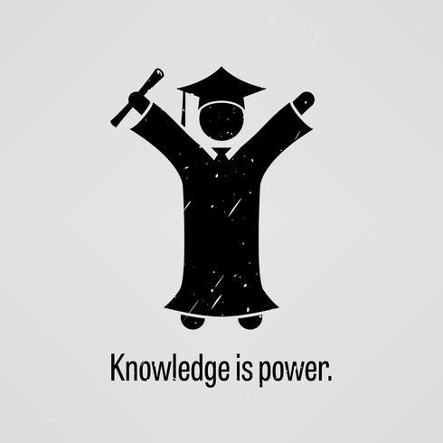 Kennis is macht. vector