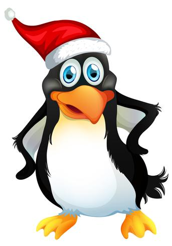 Een kerst pinguïn karakter vector