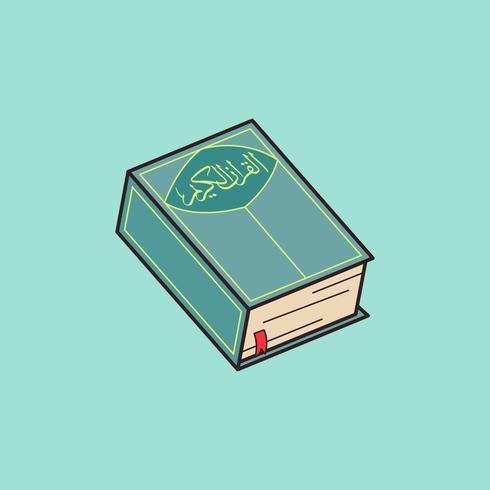 Al Qur'an vectorillustratie vector