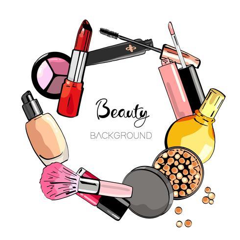 Cosmetische achtergrond. vector