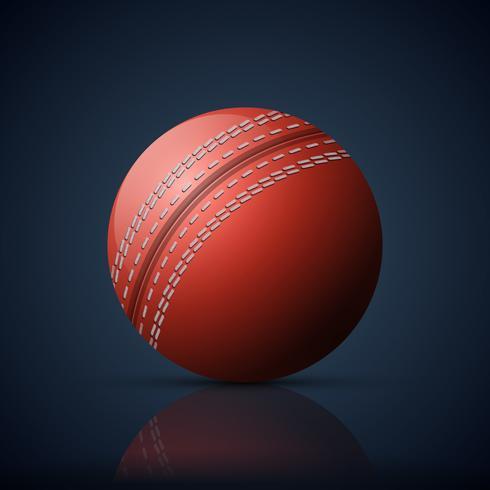 Rode traditionele cricket bal illustratie vector