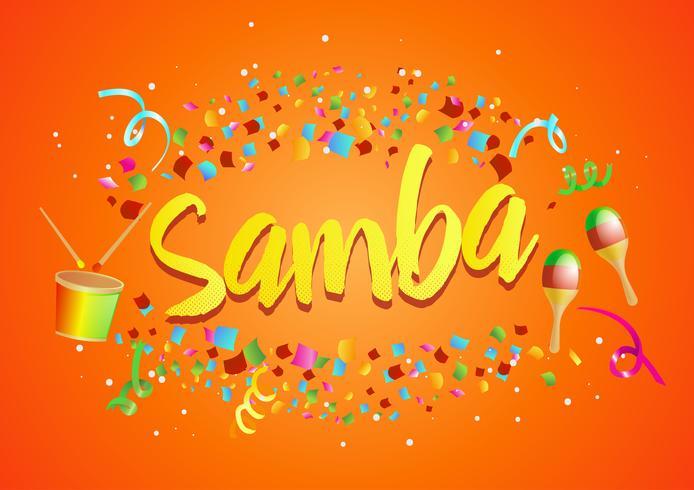 "Burst of Confetti rond ""Samba"" vector"
