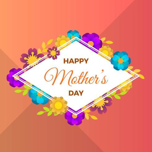Platte gelukkige moederdag vectorillustratie vector