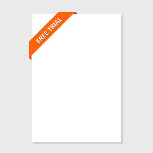 Set van veelkleurige knop voor website-ontwerp. Gratis proefdag. vector
