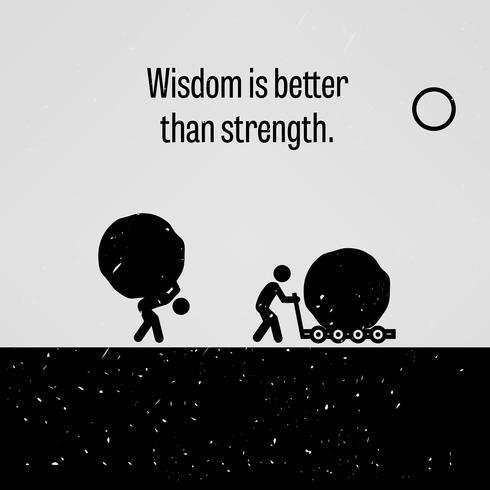 Wijsheid is beter dan kracht. vector