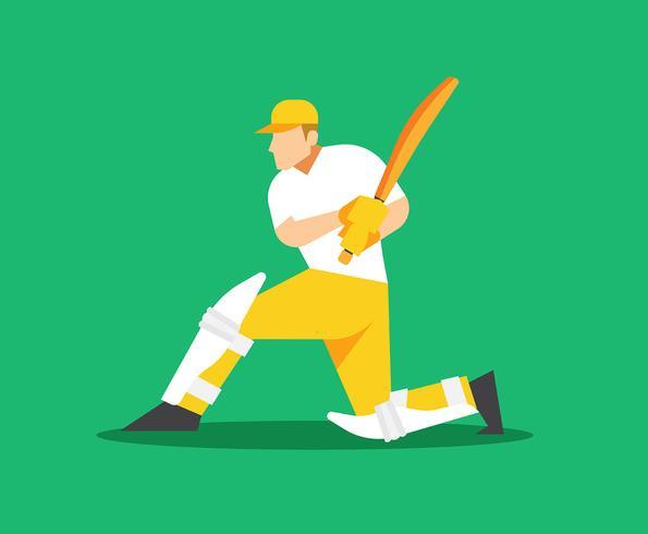 Cricket speler illustratie vector