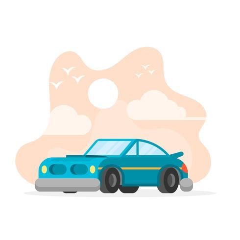 Platte Retro auto vectorillustratie vector