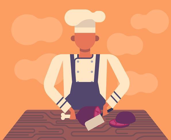 Chef-kok illustratie vector